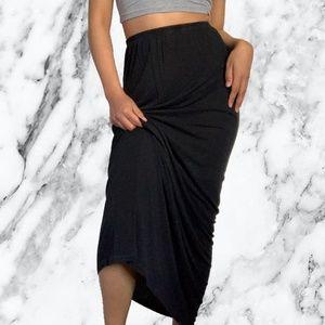 Brandy Melville Black Maxi Skirt